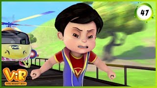 Vir: The Robot Boy | The Train Chase | Action cartoons for Kids | 3D cartoons