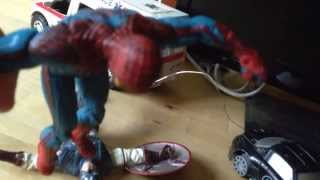 Spiderman vs Capitán América stop motion
