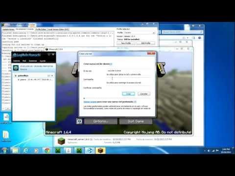 Como crear server en minecraft 1.6.4    NO PREMIUM con HAMACHI   Para todas las versiones