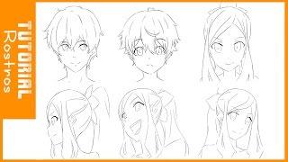TUTORIAL DE DIBUJO #1 /Como dibujar rostros estilo anime