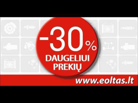 Automobilių Detalės Akcija -30% Kovo 14-tą