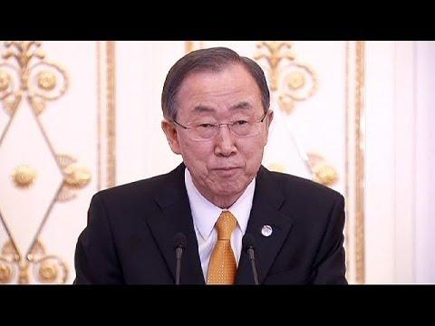 Ban Ki-moon Moskova'da Putin ile görüştü