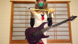LOUDNESS - Crazy Doctor (Guitar cover with Latex & PVC wear)