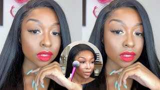 Holiday GRWM: Hair & Makeup ft. OMGHERHAIR | Simple Holiday Glam | Makeup For WOC | Lovevinni_