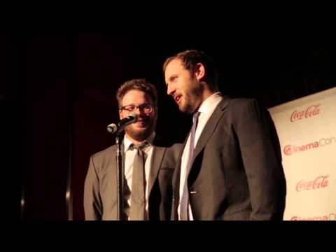 Seth Rogen and Evan Goldberg Cinema Con Interview Neighbors Preacher