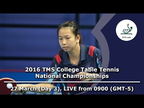 2016 TMS College Table Tennis National Championships - Day 3, Table 1