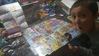 SUPRISE VIDEO! SOMEONE SENT US THEIR WHOLE COLLECTION OF POKEMON CARDS!! Suprise FF #35 Pt.2