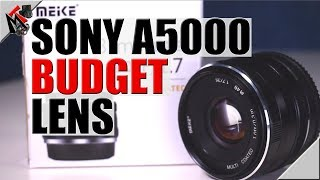 Sony a5000 lens - Meike 35mm aperture f1.7