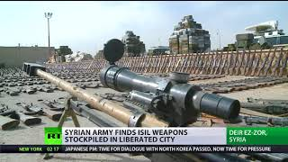 Deir ez-Zor 'Hideouts': Syrian Army finds ISIS weapons stockpiled in liberated city