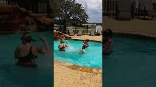 Ryan & kids at pool Doeskin
