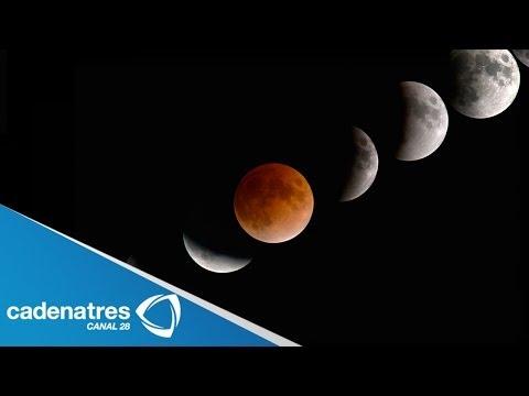 IMPRESIONANTES imágenes del eclipse total de la luna / Eclipse lunar 14 abril 2014