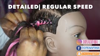 BEST Beginner Feed in Braid Tutorial EVEERRRRR | REGULAR SPEED