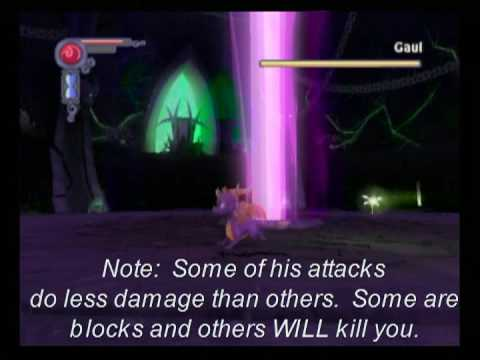 How to defeat gaul; The legend of Spyro: The Eternal Night Video