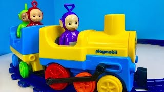 LEARNING NUMBERS Train Ride and TELETUBBIES Toys!
