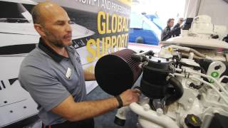 Cat C12.9 High Performance Propulsion Engine Walkaround