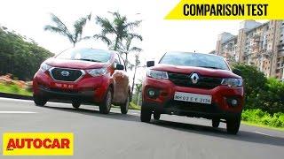 Renault Kwid VS Datsun Redigo | Comparison Test | Autocar India