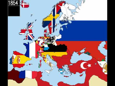 Europe Timeline Of National Flags Part 2 Youtube
