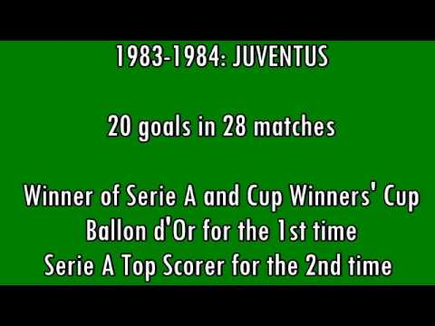 Michel Platini - 68 goals in Serie A (part 1/2): 1-36 (Juventus 1982-1984)