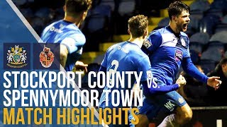 Stockport County Vs Spennymoor Town - Match Highlights - 09.12.17