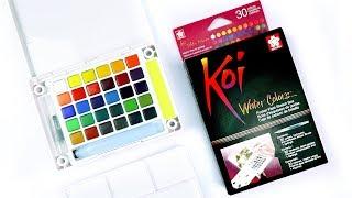 Sakura Koi Watercolor   Art Supply Review