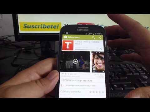 como descargar tango en mi android Samsung Galaxy S3 español