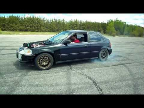 Civic RWD SR20DET Test Run ( Drift )