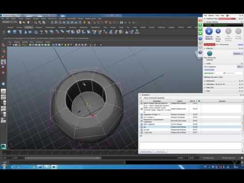 MAYA  0009   Создание поверхностей из нескольких кривых  Введение в полигональное моделирование
