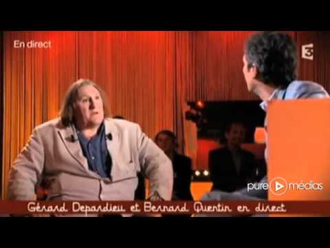 Interview Gérard Depardieu - Ce soir ou jamais - France 3