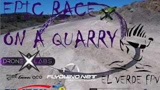 Epic Race in Abandoned Quarry - FPV