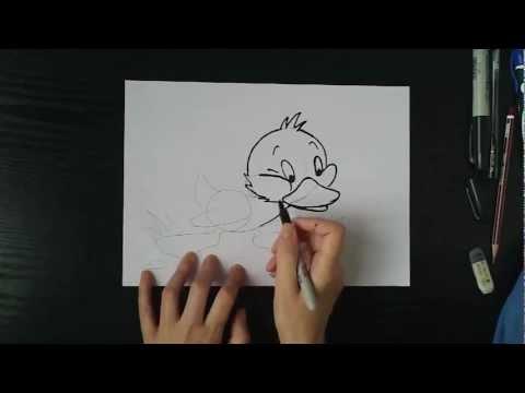 Видео как нарисовать Гадкого утенка