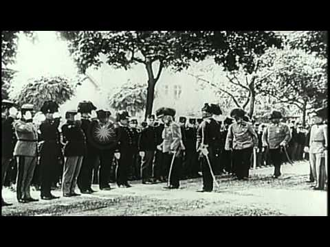 Archduke Franz Ferdinand and Sophie, Duchess of Hohenberg attend a wedding at Hab...HD Stock Footage