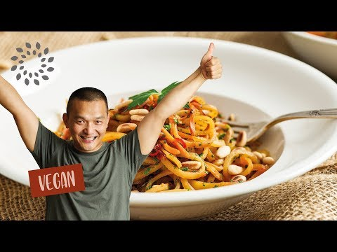 Kartoffelspaghetti süss-scharf – vegan