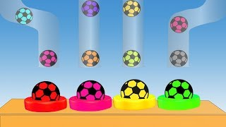 Soccer Ball Colors Video For Children || Learning Colors || Cartoon For Kids