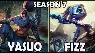 FAKER plays YASUO vs FIZZ Ranked Europe West Server Season 7