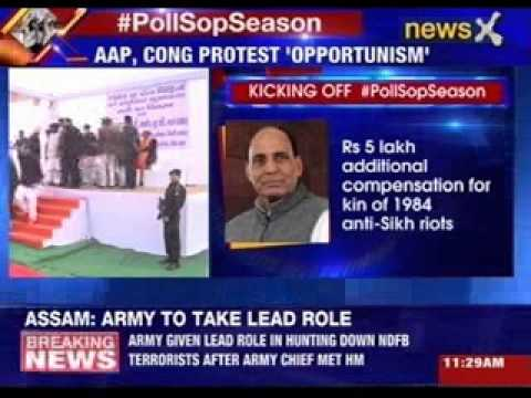 #PollSopSeason: Rajnath Singh 'delivers' on Modi's promise