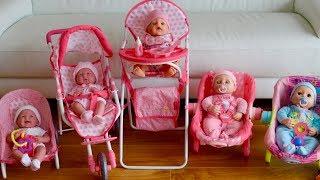 Baby Dolls Nursery Set  Dolls Pram Highcair Playpen Swing Chair Baby Born Baby Annabell