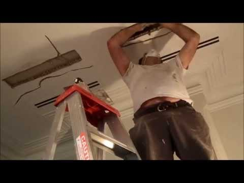 Repairing Large Duct Holes in a Lath and Plaster Ceiling Northcote