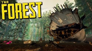 OF ALL PLACES IN THE FOREST, YOU CRASH ME HERE!? - The Forest Hard Mode Gameplay - #1