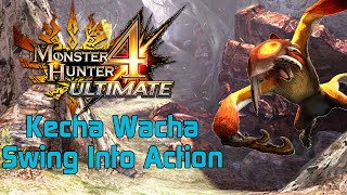 [MH4U] Monster Hunter 4 Ultimate - Low Rank Quest - Swing Into Action   Kecha Wacha
