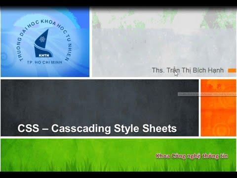 Phát triển ứng dụng Web-Bài 04: Tìm hiểu CSS