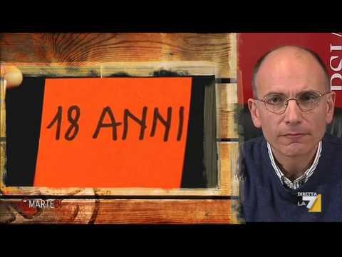 L'intervista dio Giovanni Floris ad Enrico Letta