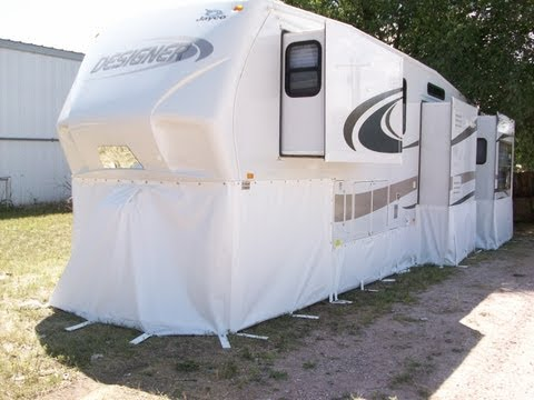 RV Skirting - The Work We Do! at rvskirting.com  Winterize your RV Fifth Wheel Skirts