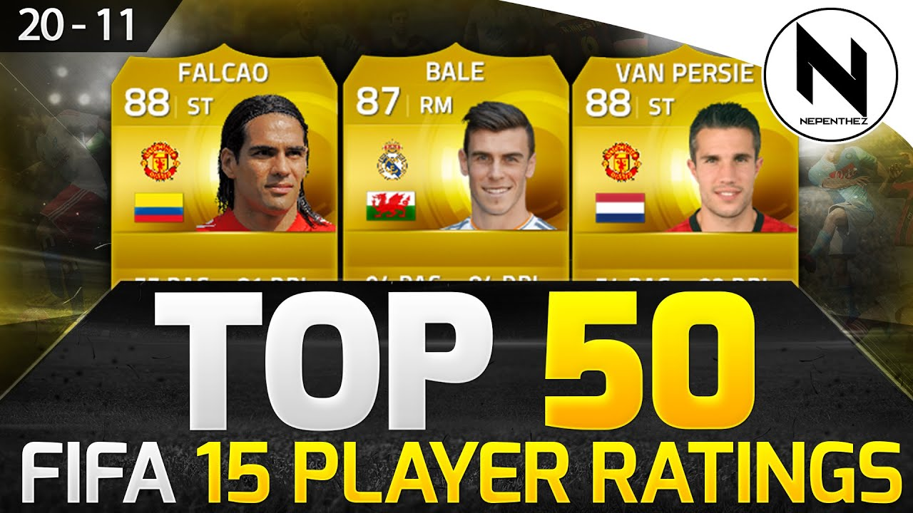 Top 50 fifa 15 official player ratings 20 11 w bale falcao amp van