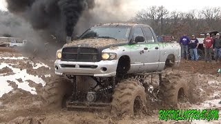CHEVY VS DODGE BIG MUD TRUCKS BATTLE!!