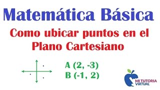Como Ubicar Puntos en el Plano Cartesiano - Matematica Basica - Video 103