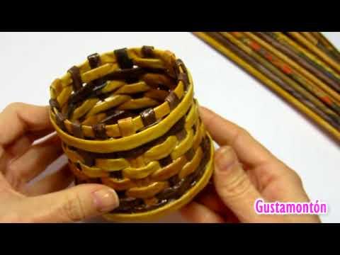 DIY: Como hacer y pintar palitos (varillas) de papel. Paper sticks.