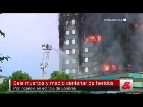 Seis muertos y medio centenar de heridos por incendio en edificio de Londres