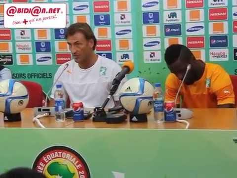 CAN 2015: Hervé Renard et Chico en conference de presse après le match contre le Cameroun