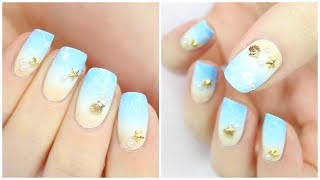 Easy Summer Beach Nail Art!