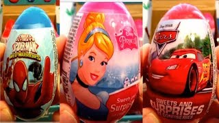 Avengers Spiderman Cars Princess Thor Iron Man Hulk 36 Kinder Surprise Eggs